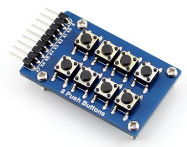 8 Push bottones 2x4 8 Keypad bottones Modulo Accessory board matrix Keypad