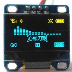 "Modulo ICD / I2C da 0,96 ""pollici 12864 Modulo LCD bicolore blu giallo OLED a 4 pin"