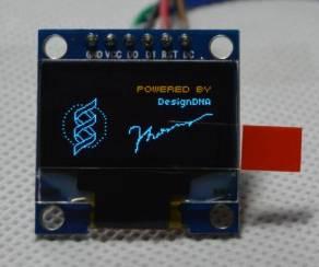 """Modulo LCD da 0,96 """"SPI 12864 bicolore LCD blu bicolore a 6 pin"""